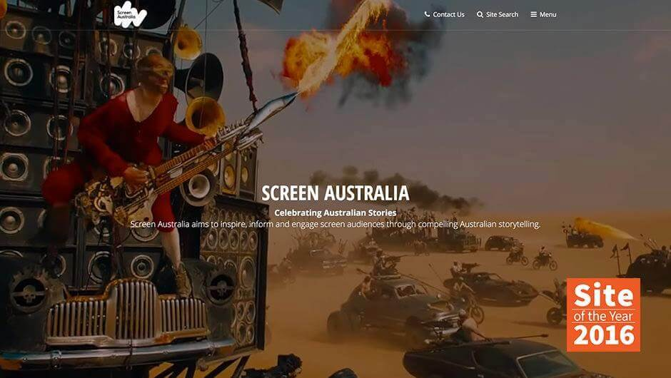 Screen Australia wins Kentico Site of the Year 2016